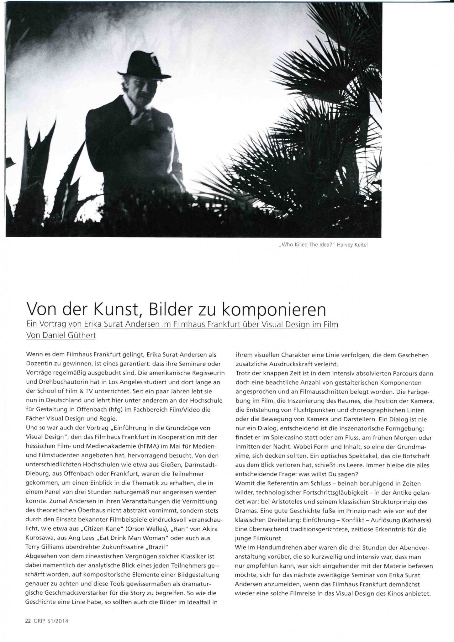Article from GRIP about Erika Andersen's Visual Design seminar